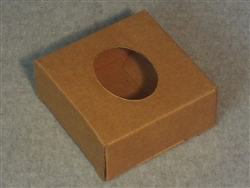 Kraft Soap Box with Oval Window