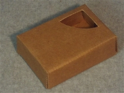 Kraft Soap Box with Corner Triangle Window