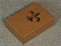 Kraft Soap Box with Fleur De Lis