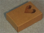 Kraft Soap Box with Heart Window