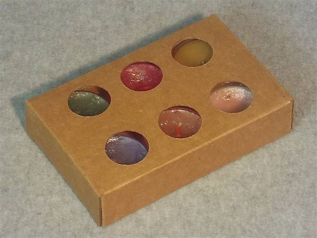 Kraft Tealight Box-Circles