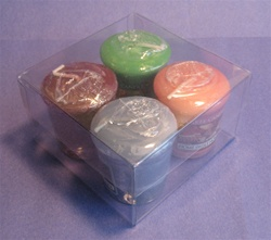 Clear Votive Box Holds 4