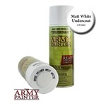 Army Painter Matt White Base Primer Undercoat Spray Can