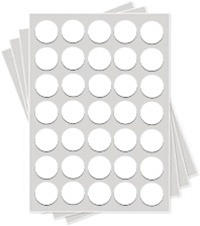 "1.25"" Round Edible Image Sheet only, sheet of 35"