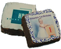 "2.5"" Square Photo/Logo Brownies, dozen"