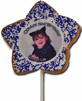 "3"" Star Photo/Logo Cookie Pops, dozen"