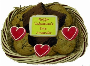 Assorted Cookie & Brownie Gift, Valentine's Day