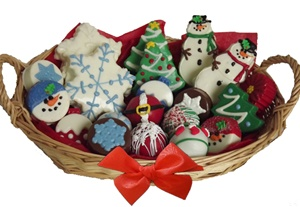 Assorted Holiday Cookie Gift Basket