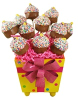 Cake Pop Cupcake Design Gift Pail of 12