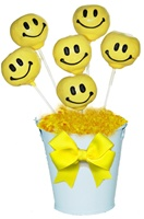 Cake Pops - Smiley Face, Bouquet of 6