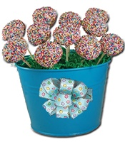 Cake Pop - Sprinkle Design, Gift Pail of 12