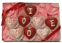 Cake Truffles - Heart Shaped, Gift Box of 8