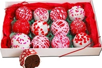 Cake Truffle Gift Box of 12, Valentine's Designs