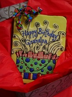 Giant Hand Dec. Cookie Greeting, Happy Birthday