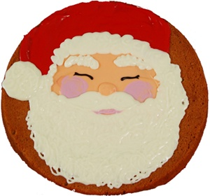 Giant Hand Dec. Santa Claus Cookie