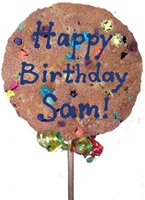 "7"" Giant Cookie Pop, Personalized Message"
