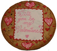 "12"" Giant Valentine's Cookie Cake, Personalized Message"