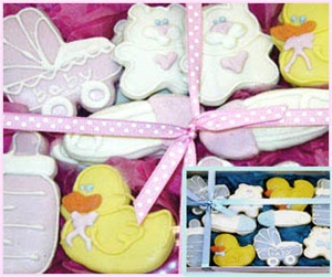 Hand Dec. Cookies, Baby Gift Box of 20