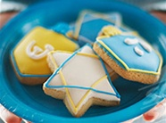 Hand Dec. Cookies - Chanukkah