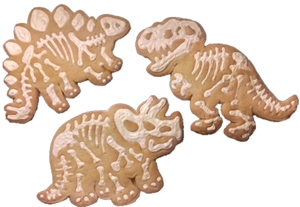decorated Cookies Dinosaur with Bones