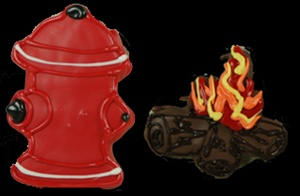 Fire Hydrant & Fire Cookies Set