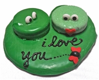 Hand Dec. Cookies - Love Frogs