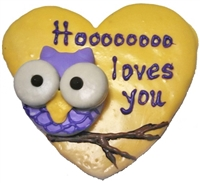 Hand Dec. Cookies - Love Owl