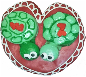 Hand Dec. Cookies - Love Turtles