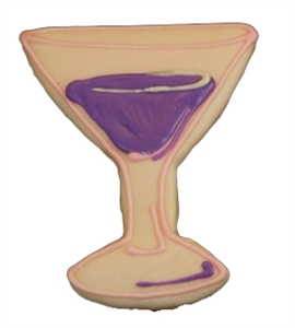 Hand Dec. Cookies - Martini Glass