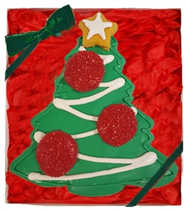Hand Dec. Christmas Tree Cookie Gift Box