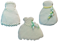 Hand Dec. Cookies - Wedding Dress