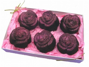 Rose Shaped Brownie Gift Box of 6