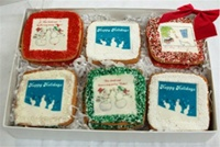 Holiday Greeting Cookie Gift Box, one dozen