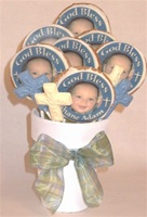 Baptism Photo Cookie Centerpiece, 6 cookies