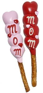 Pretzel Rods - Molded Mom's Heart