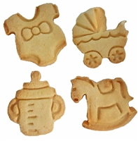 Sweet Impression Baby Cookies, Set of 4
