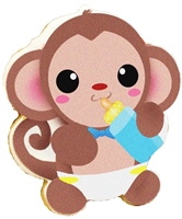 Printed Cookies - Baby Monkey
