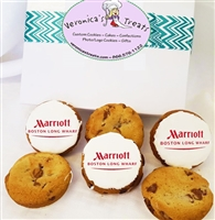 Direct Print Logo Cookies Gift Box, one dozen