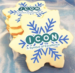 Direct Print Logo Cookies - Snowflake