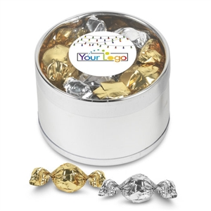 Your Logo Belgian Truffles Gift Tin
