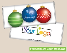 Personalized Logo Candy Bar - Holiday Trio