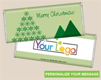 Personalized Logo Candy Bar - Snowflake Pine