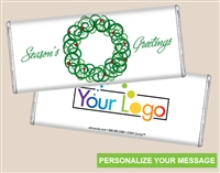 Personalized Logo Candy Bar - Scrolled Wreath