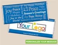 Personalized Logo Candy Bar - Seasonal Wishes