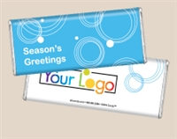 Personalized Logo Candy Bar - Winter Hoops