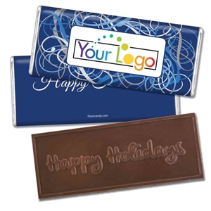 Personalized Logo Candy Bar - Winter Scrolls