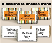 Halloween Personalized Hershey's Mini Bar - Set of 60