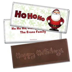 Personalized Holiday Candy Bar - Jolly & Round