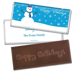 Personalized Holiday Candy Bar - Friendly Frosty