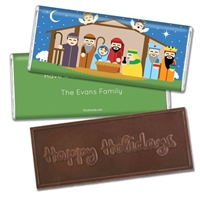 Personalized Holiday Candy Bar - Celebrate His Birth